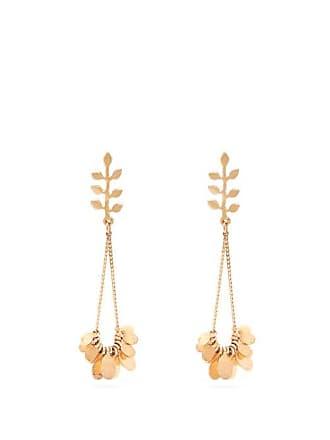 Isabel Marant Leaf Drop Earrings - Womens - Gold
