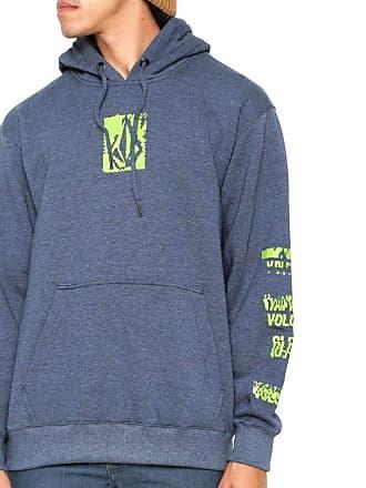 543901e1a Volcom Moletom Canguru Garment Masculino Volcom Azul Indigo Mescla - GG