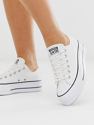 Converse Chuck Taylor Ox - Weiße Sneaker mit Plateausohle