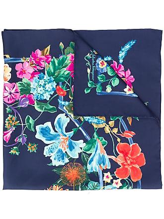 Salvatore Ferragamo floral scarf - Azul