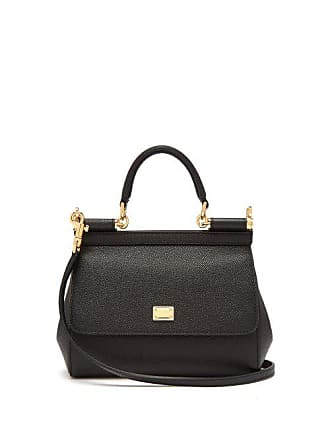 c2d24d6b Dolce & Gabbana Sicily Small Dauphine Leather Bag - Womens - Black