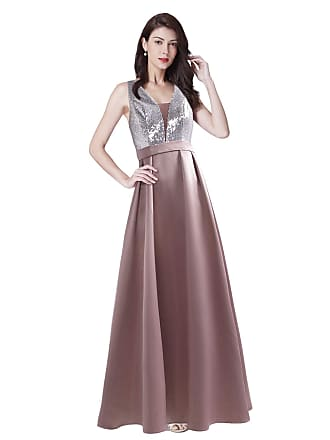 b1c1b06c40 Ever Pretty Womens Fashion Sequin V Neck Floor Length A Line Wedding Party  Dress Orchid UK16