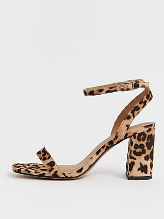 2fdc15912ad9 Asos Hong Kong barely there block heeled sandals in leopard - Multi