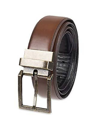 Kenneth Cole Reaction Mens Reversible Feather-Edge Belt, Brown/Black, Extra Large (44-46)