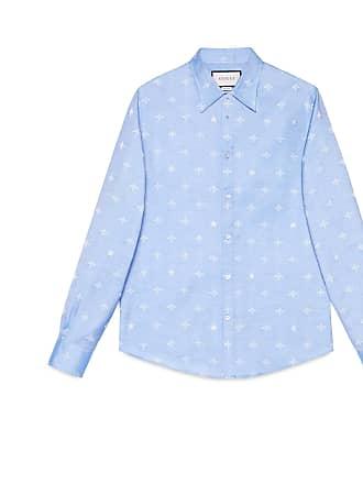 Gucci Camisa Duke de Oxford de Jacquard con Abeja 1e2020ff77a