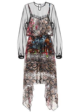 Preen Fredi snakeskin-printed silk dress
