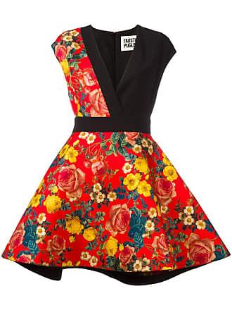 FAUSTO PUGLISI Vestido com estampa floral - Preto