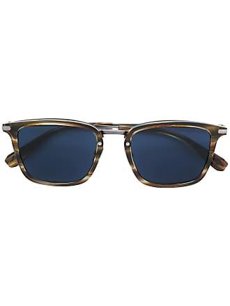 Brioni Óculos de sol com armação quadrada - Marrom