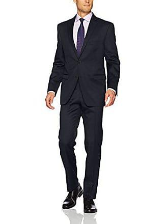 U.S.Polo Association Mens Wool Suit, Navy, 42 Long