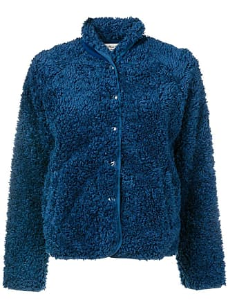 Ymc You Must Create textured button-up jacket - Blue