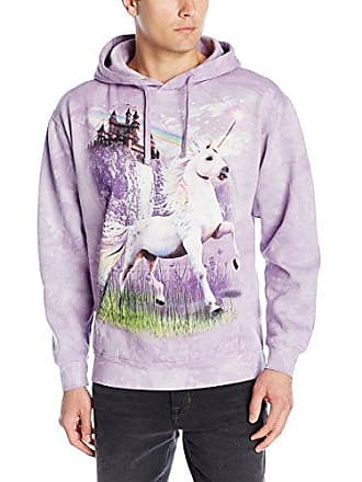 The Mountain Unicorn Castle Hsw Adult Hoodie, Purple, XL
