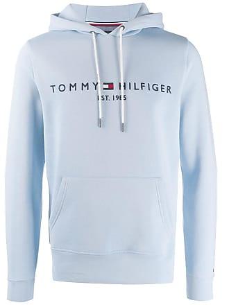 Tommy Hilfiger Moletom com logo bordado e capuz - Azul