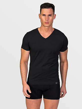 ZD Zero Defects Zero Defects black soya v-neck t-shirt