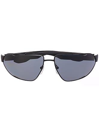 Prada Óculos de sol oval - Preto