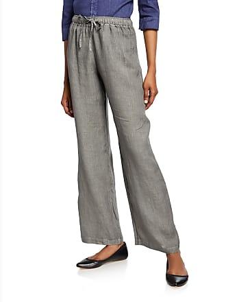 120% Lino Linen Drawstring Long Pants