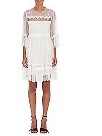 ffa0c5f5e0ba4f Alberta Ferretti Womens Lace   Velvet A-Line Dress - White Size 40 IT