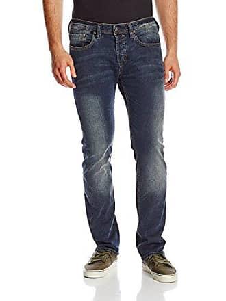 Buffalo David Bitton Mens Evan Slim Fit Jean In Arcadia Denim, Blasted/Damaged, 38x30