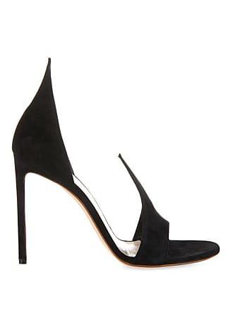 1a9ea7431ec2c1 Francesco Russo Open Toe Suede Pumps - Womens - Black