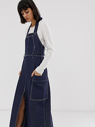 Weekday Recycled Edition - Jeanskleid mit Ziernaht, in Blau