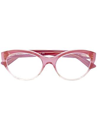 Dolce & Gabbana Eyewear Óculos com armação oval - Rosa