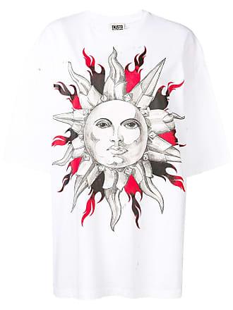FAUSTO PUGLISI sun print T-shirt - Branco