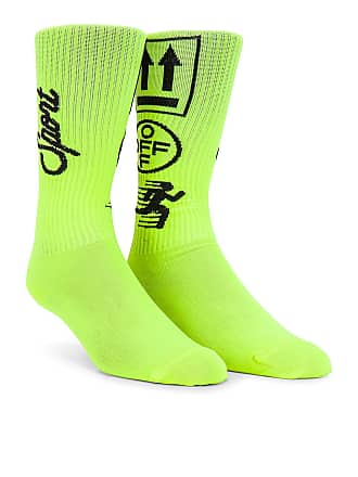 Off-white Long Sport Sock in Yellow