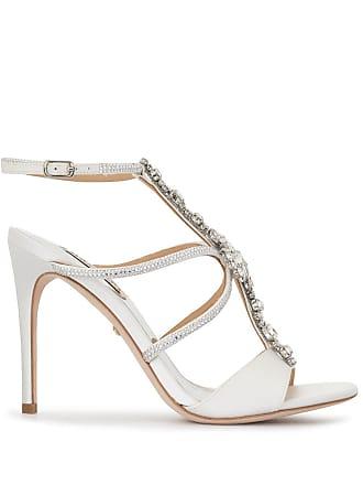 Badgley Mischka crystal embellished Faye sandals - White