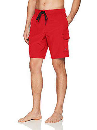 ZeroXposur Mens Axed Solid 4 Way Stretch Board Short, Cherry, X Large