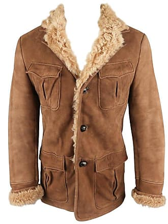 7db61b7a36125 Gucci Brown Sueded Fur Lined Shearling Jacket