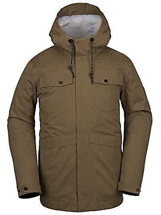 Volcom Mens V.CO 3L RAIN Snow Jacket, Moss, Small
