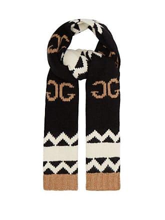 507eb24c5a4 Gucci Écharpe en laine à logo GG et maille intarsia