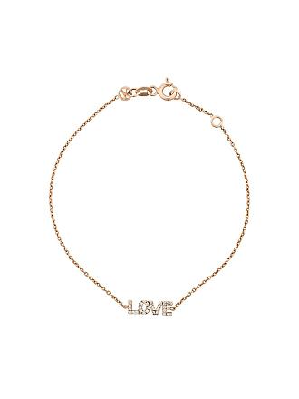 Kismet by Milka Pulseira em ouro rosê 14kt Love com diamante - Dourado