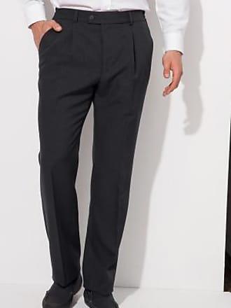 Blancheporte Pantalon pinces taille élastiquée polyester + laine -  anthracite fab03b80fa3