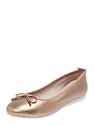 b941b32a3b07c7 Tom Tailor Damen 6990502 Geschlossene Ballerinas Mehrfarbig (Rose-Gold  01495) 36 EU