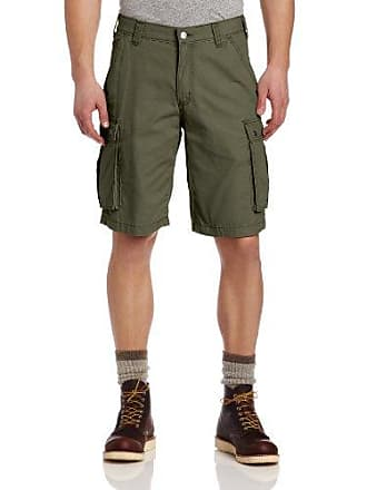 19163951 Carhartt Work in Progress Mens Rugged Cargo Short Relaxed Fit,Army Green,40