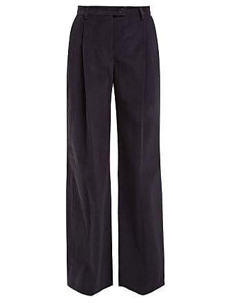 Acne Studios Pantalon taille haute en velours de coton côtelé 8d2ab65851e