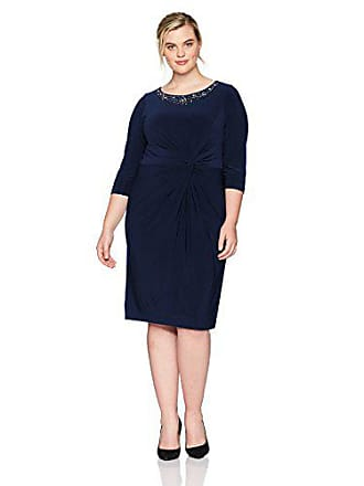 c1266c99827 Alex Evenings Womens Plus Size Long Dress with Knot Front Detail