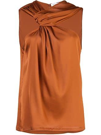 Yigal AzrouËl draped knot top - Orange