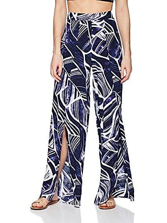 La Blanca Womens Lounge Cover-Up Pant, Midnight/Leaf Print, Medium