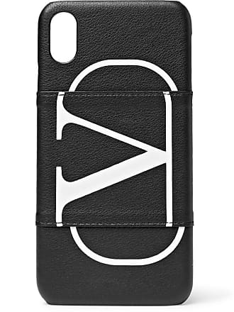 Valentino Valentino Garavani Full-grain Leather Iphone Xs Case - Black