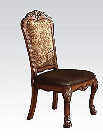 ACME ACME 60012 Dresden Side Chair, Cherry Oak Finish, Set of 2