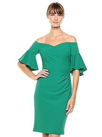 1f4defebfeea Calvin Klein Womens Off The Shoulder Neckline with Side Ruch Dress, Meadow,  4