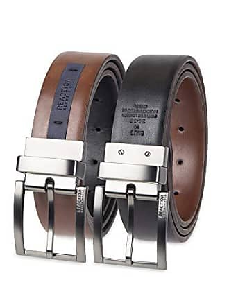 Kenneth Cole Reaction Mens Reversible Feather-Edge Belt, Tan/black, Extra Large (42-44)