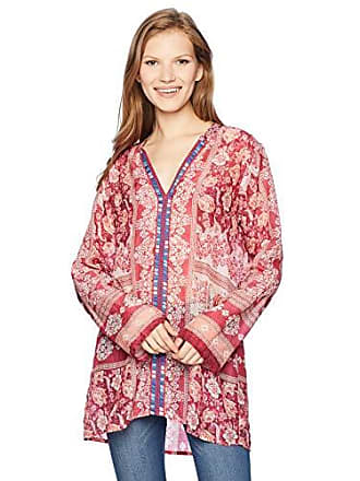 9fd2fe2344f Johnny Was Womens Long Sleeve Tunic with Embroidered Trim, Multi/b, S