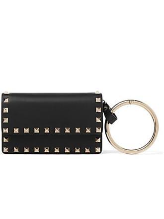 Valentino Valentino Garavani The Rockstud Small Leather Pouch - Black