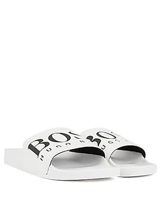 589e6a7eb BOSS Italian-made rubber slide sandals with contrast logo