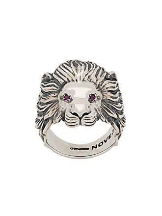 Nove25 Anel Roaring Lion - Prateado