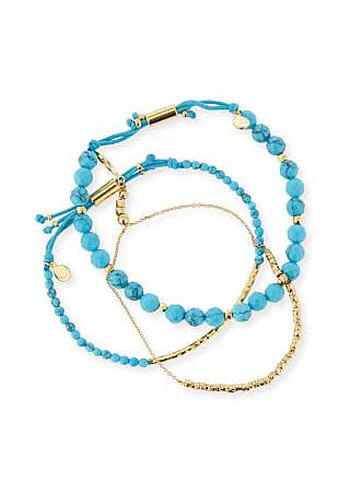 Gorjana Power Gemstones Laguna Turquoise Beaded Bracelets, Set of 3