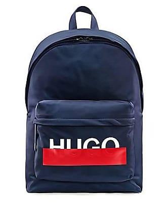 68fe76263ff HUGO BOSS Sac à dos en gabardine de tissu technique à logo partiellement  masqué170.00