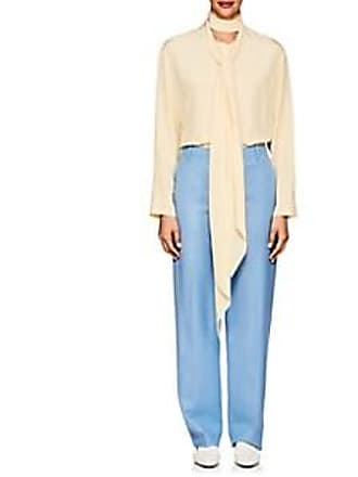 ae5f7fa47fe6d The Row Womens Katina Silk Crêpe De Chine Blouse - Wheat Size M